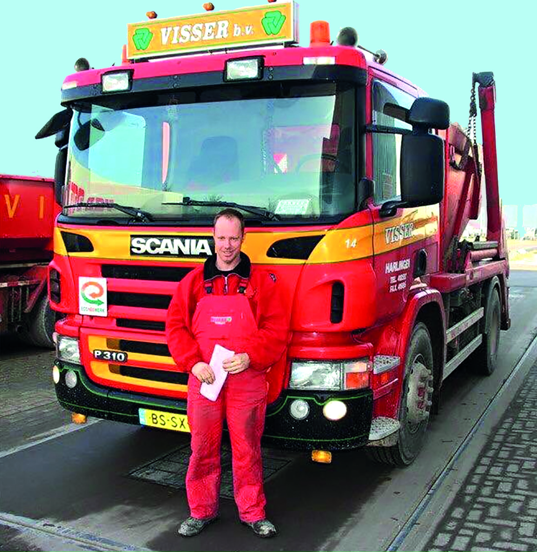 Erwin met vrachtwagen