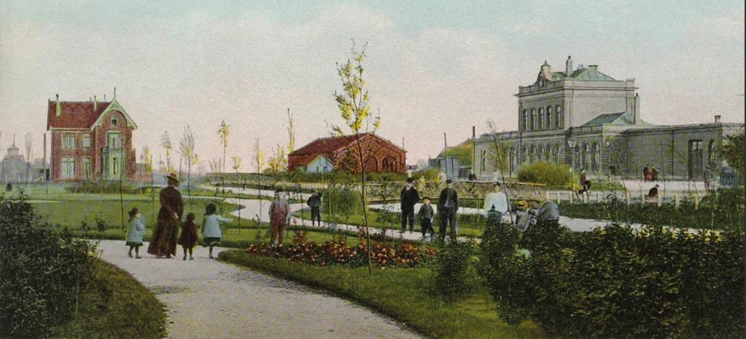 Harmenspark op oude ansichtkaart
